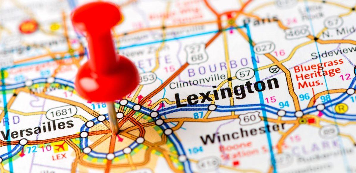 US capital cities on map series: Lexington, KY - Lexington Medical ...