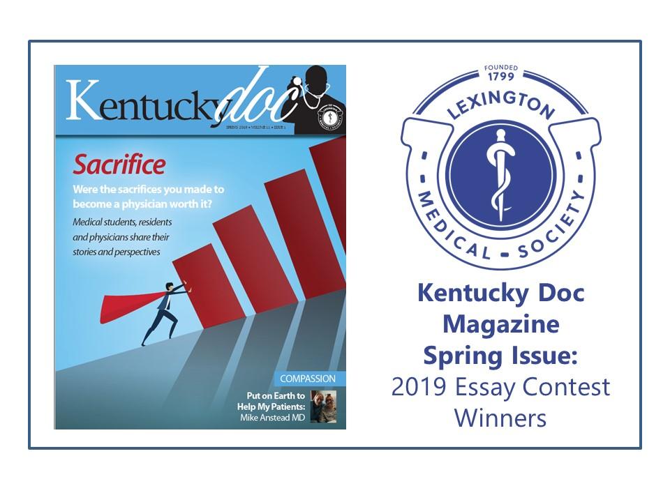 Kentucky Doc Magazine Spring Issue: 2019 Essay Contest